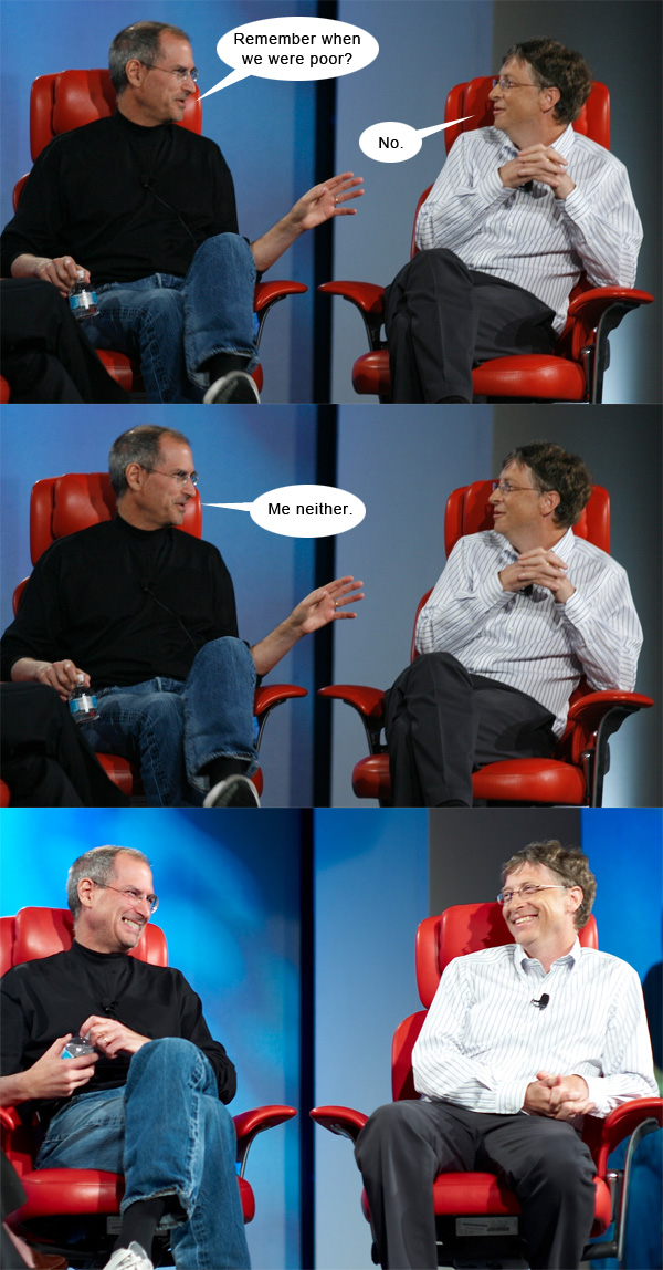 Steve Jobs and Bill Gates Remember When