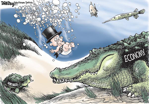 110109 2011 Hold Your Breath - Cartoon By Bill Day