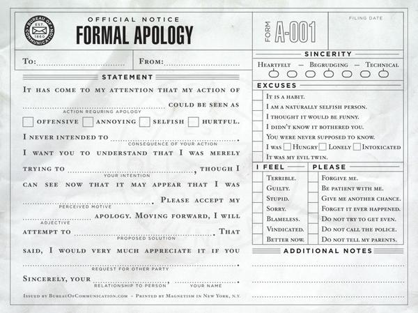 120305 Formal Apology