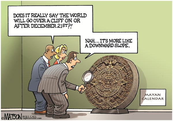 121215 Mayan Calendar Fiscal Cliff Prediction
