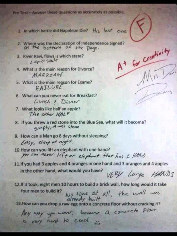 130504 Test of Common Sense