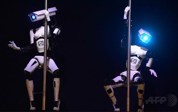140323 Robot Pole Dance