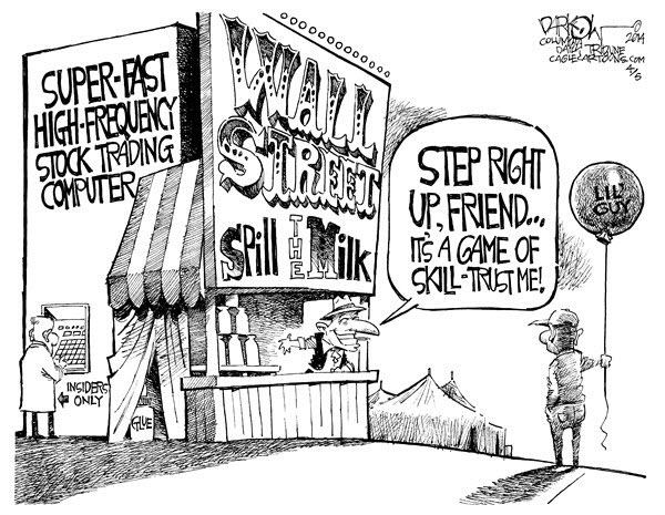 140413 Wall Street Carnival Game - Darkow Cartoon