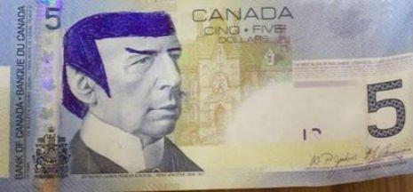150307 Spocking Bank of Canada Dollar Bills